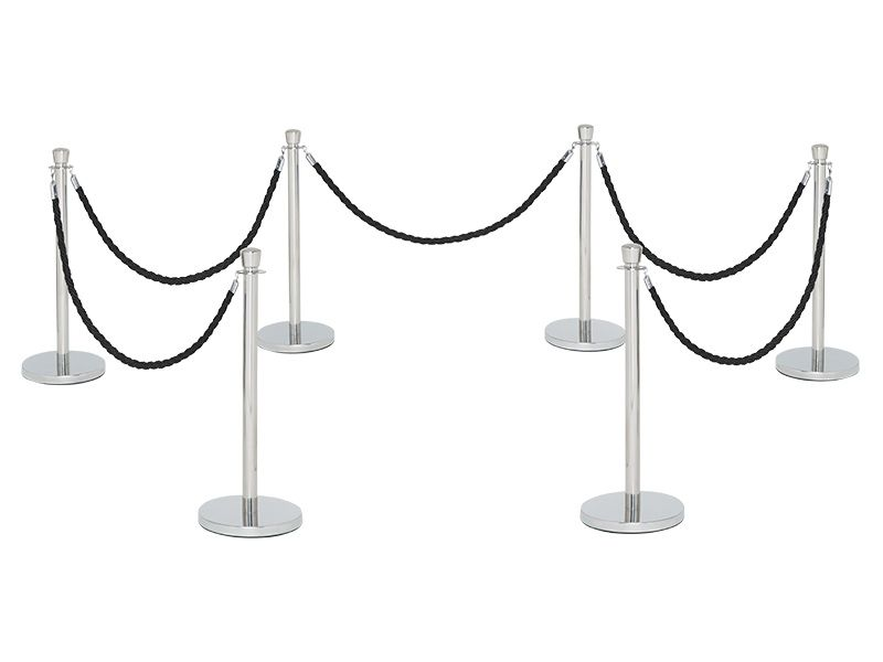 Black Rope Stanchions