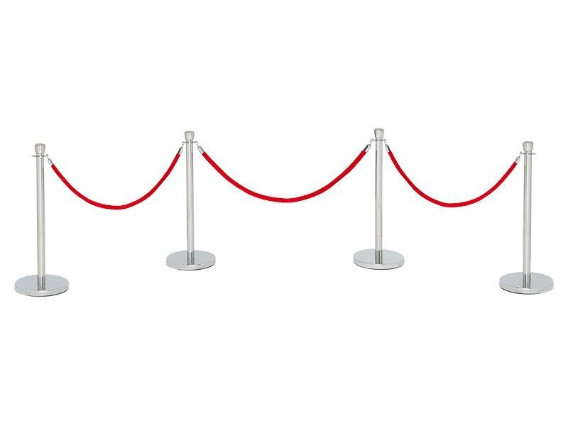 Red Velvet Rope Stanchions