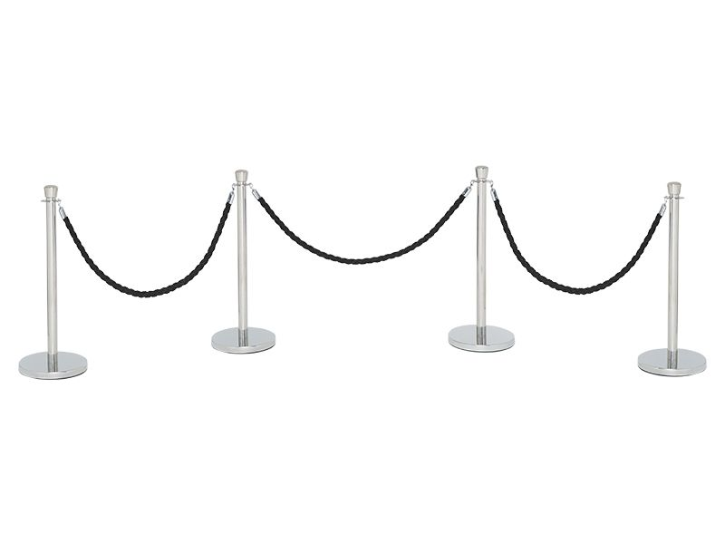 Black Stanchion Rope
