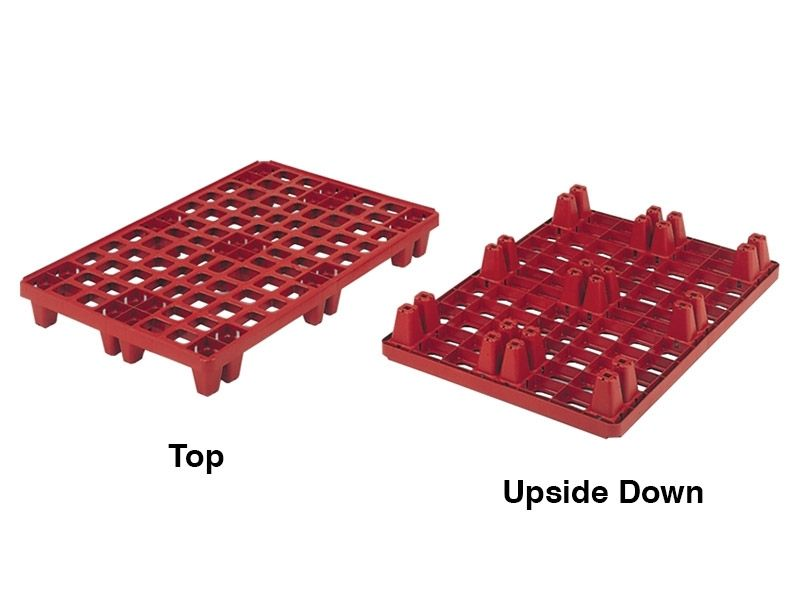 Distribution Plastic Pallet with 9 Feet