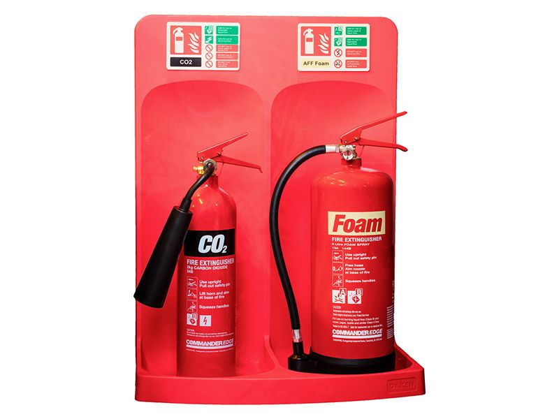 Double Extinguisher Stand
