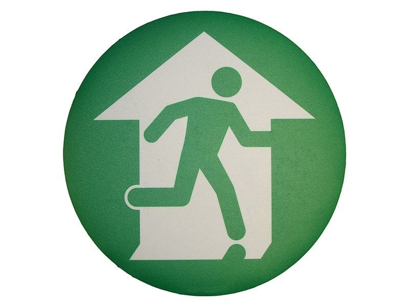 """Emergency Exit Symbol"" Floor Graphic Marker"
