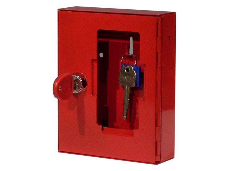 Glass Emergency Key Box with Cylinder Lock