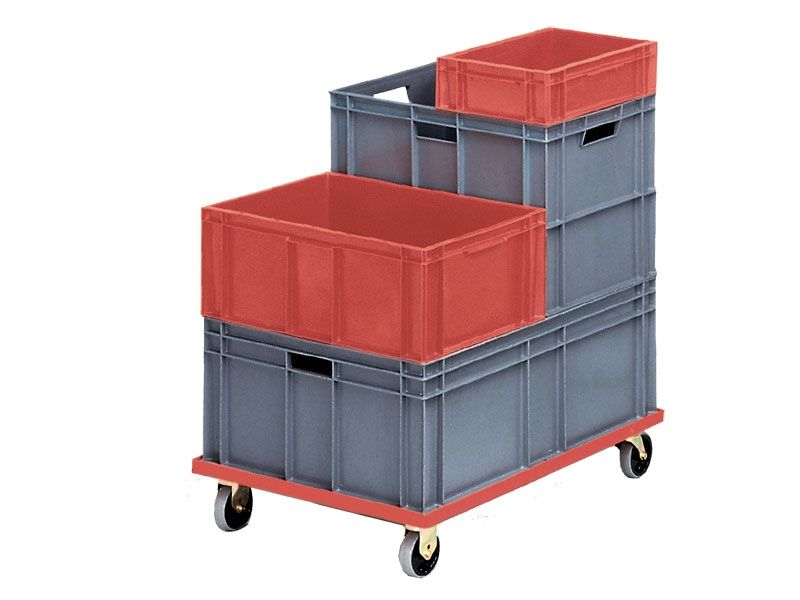 Solid Ergonomic Stacking Euro Containers