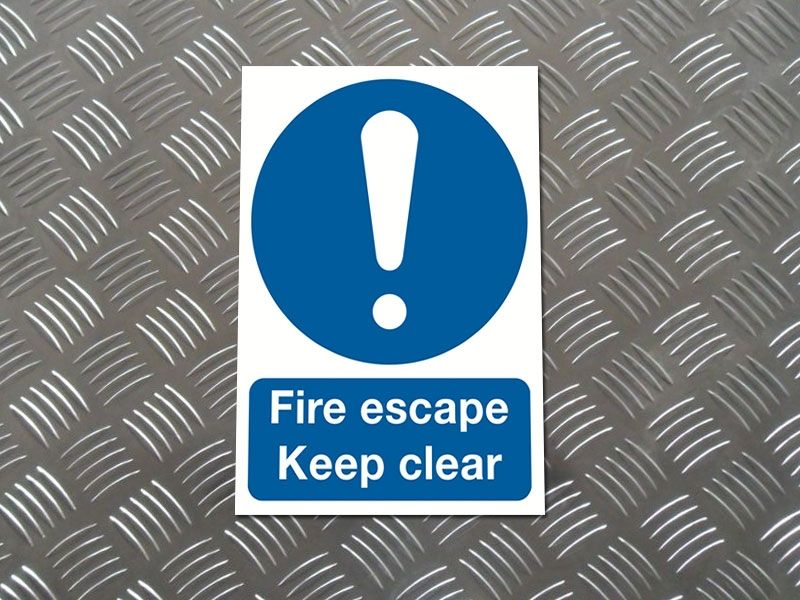 """Escape Route"" Mandatory Site Safety Sign"
