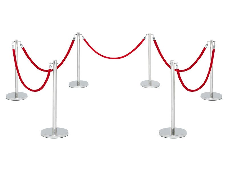 Red Velvet Ropes and Stanchions