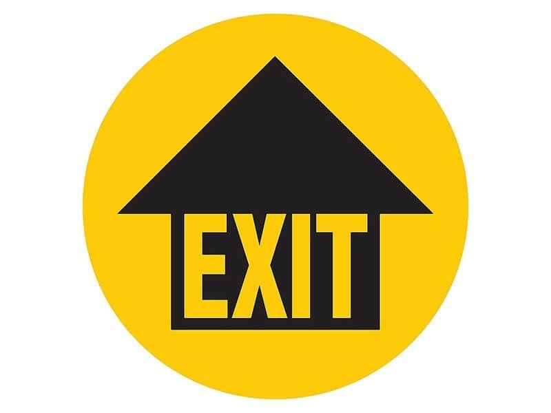 """Exit Arrow"" Floor Graphic Marker"