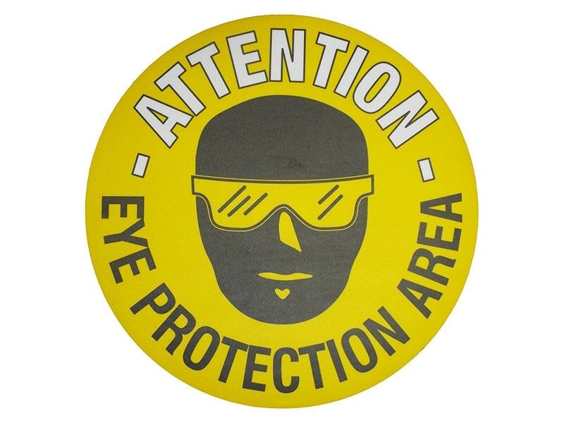 """""""Eye Protection Area"""" Floor Graphic Marker"""