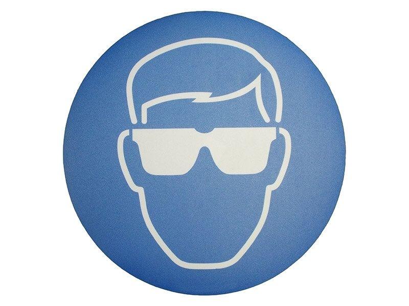 """Eye Protection Symbol"" Floor Graphic Marker"