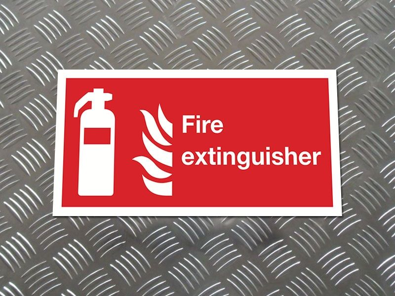 """Fire Extinguisher"" Fire Safety Equipment Sign"