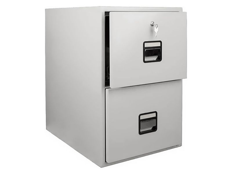 2 Drawer Fire Resistant Filing Cabinet