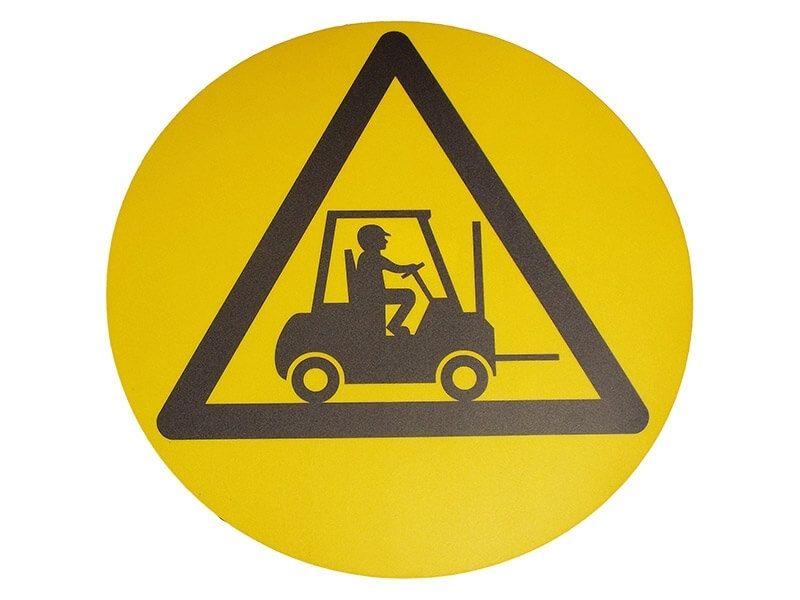 """Forklift Truck Warning Symbol"" Floor Graphic Marker"