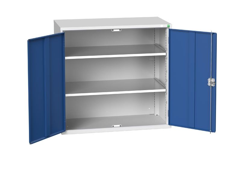 Freestanding Workshop Cupboard with 2 Shelves (1000 x 1050 x 550)