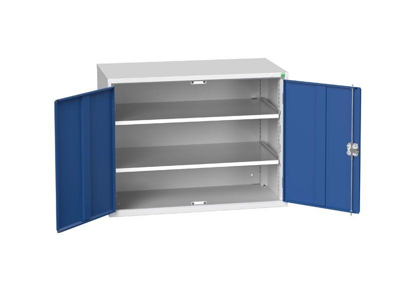 Freestanding Workshop Cupboard with 2 Shelves (800 x 1050 x 550)