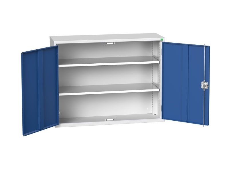 Freestanding Workshop Cupboard with 2 Shelves (900 x 1050 x 350)