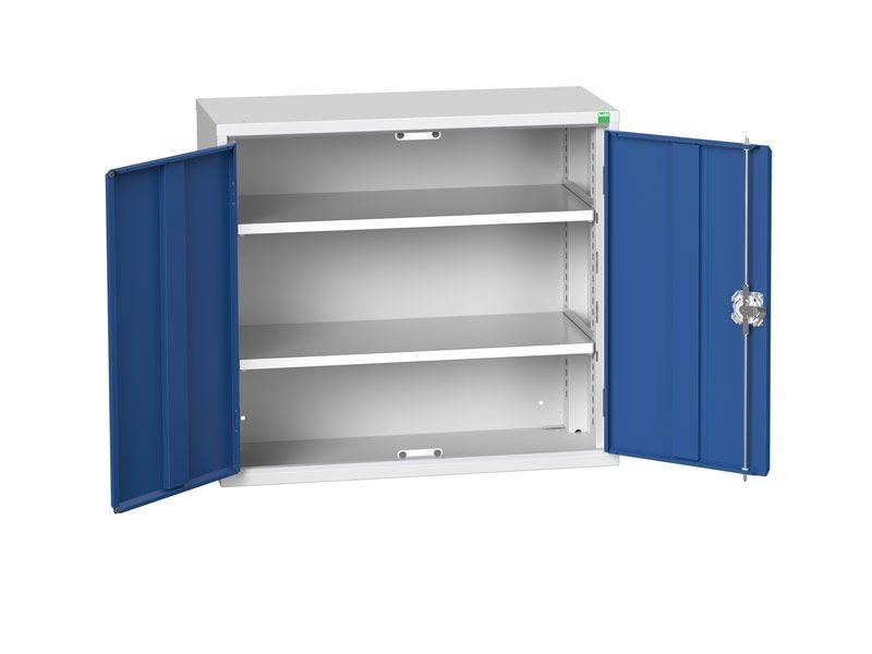 Freestanding Workshop Cupboard with 2 Shelves (800 x 800 x 350)