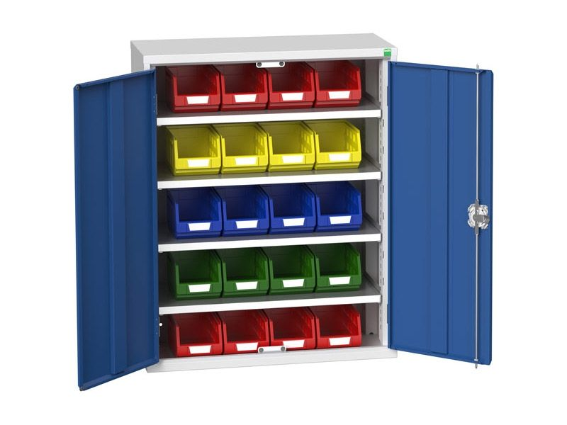Galvanised Bin Cupboard 20 x No.3 Bins