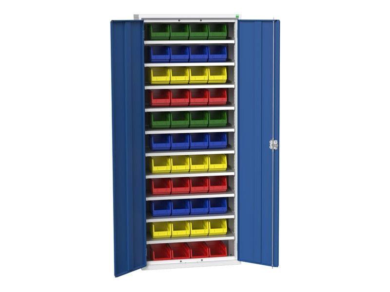 Galvanised Bin Cupboard 44 x No.3 Bins