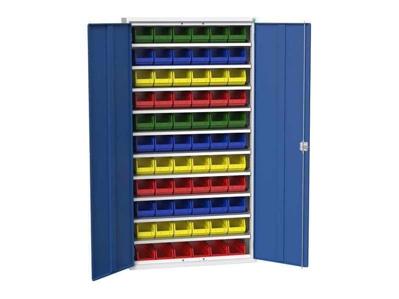 Galvanised Bin Cupboard 66 x No.3 Bins