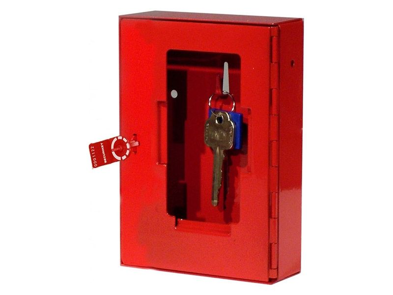 Glass Emergency Key Box with Seal and Hammer