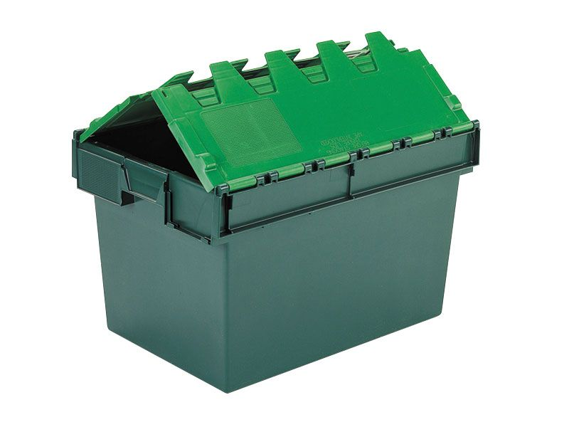 Green Attached Lid Container