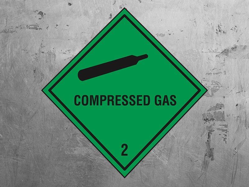 """Compressed Gas"" Hazard Warning Labels"