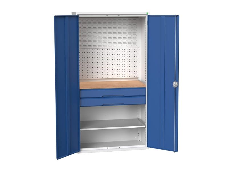 Kitted Workshop Cupboard with 2 Drawers
