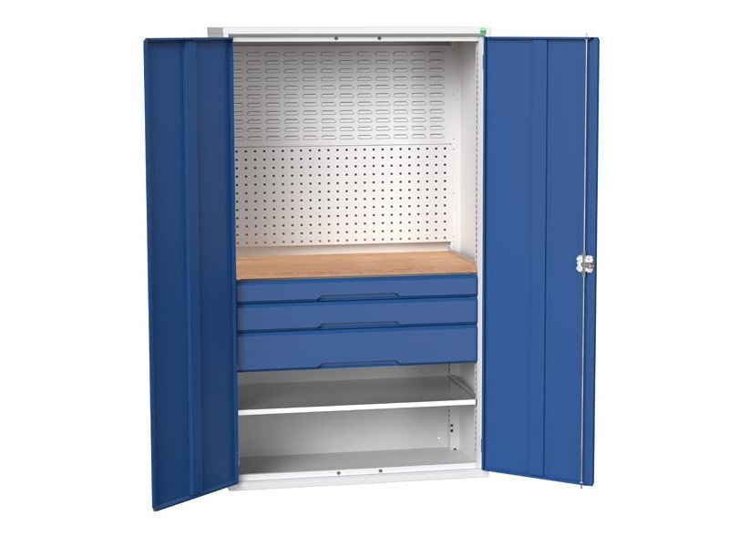 Kitted Workshop Cupboard with 3 Drawers