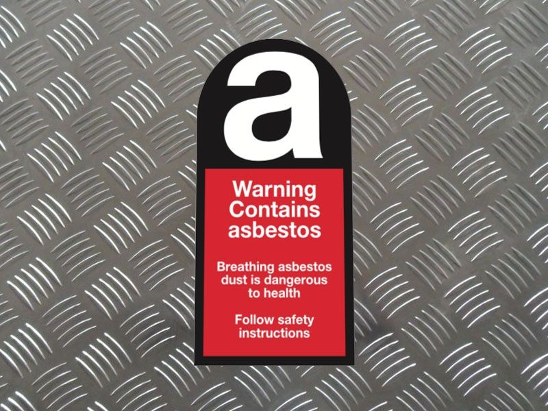 """""""Warning Contains Asbestos"""" Labels on a Roll"""
