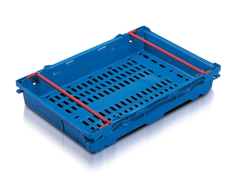 MaxiNest 16L Storage Container (Blue with Red Bar)