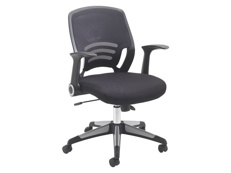 Mesh Office Chair With Folding Arms