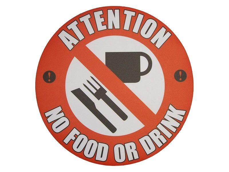"""No Food or Drink"" Floor Graphic Marker"
