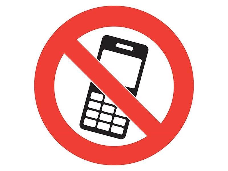 """""""No Mobile Phones"""" Floor Graphic Marker"""