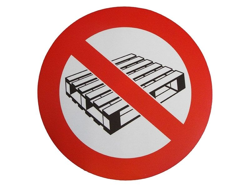 """No Pallets"" Floor Graphic Marker"