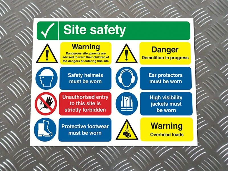 """""""Parents are Advised"""" Construction Site Safety Board"""