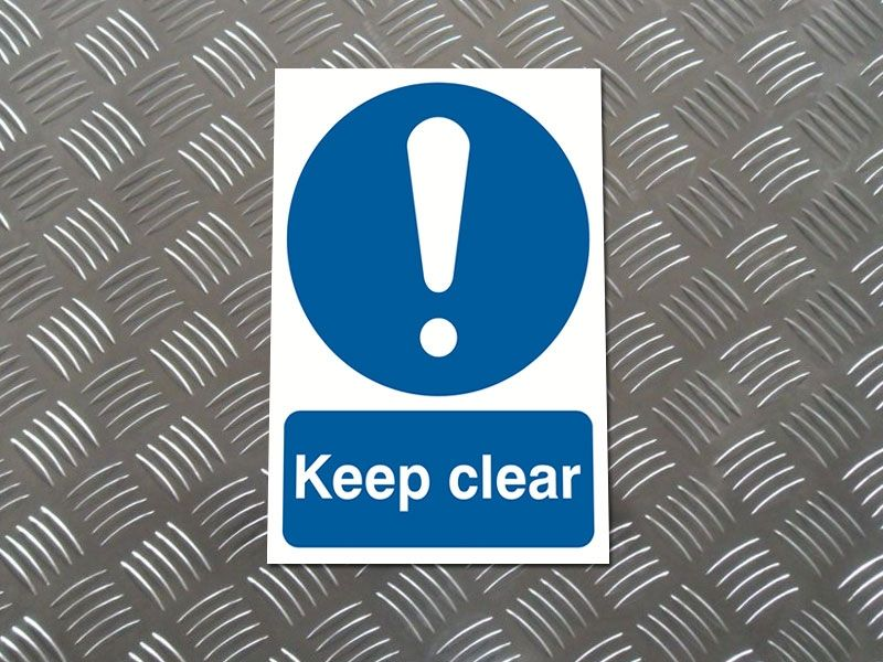 """""""Keep Clear"""" Prohibition Sign"""