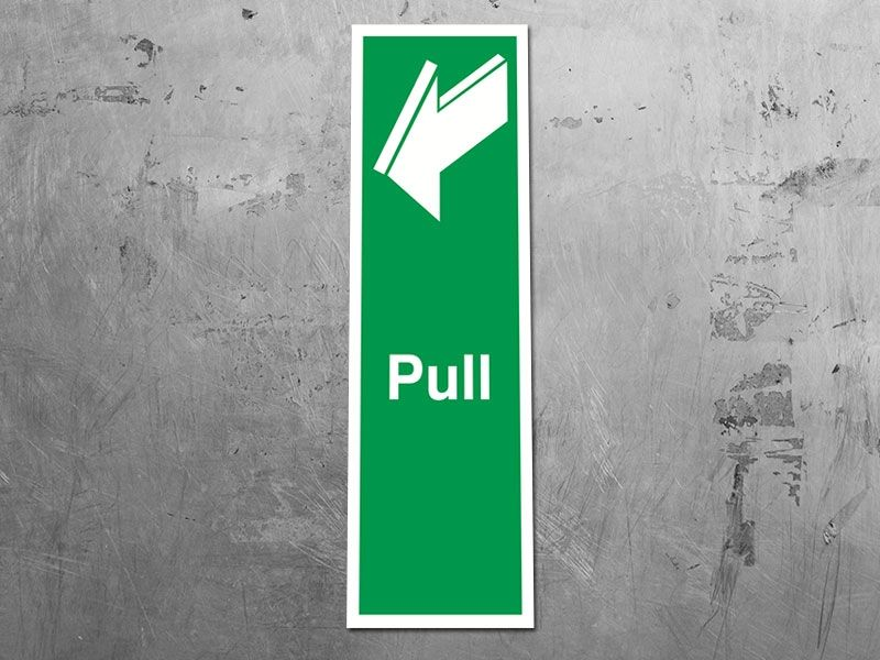 """""""Pull"""" Fire Exit Sign"""