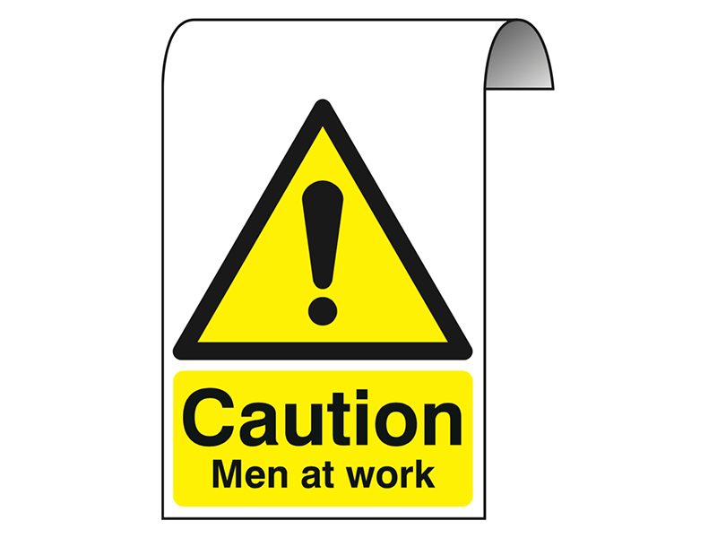 """""""Caution Men at Work"""" Roll Top Scaffolding Sign"""