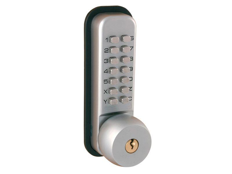Satin Chrome Digital Lock With Key Override
