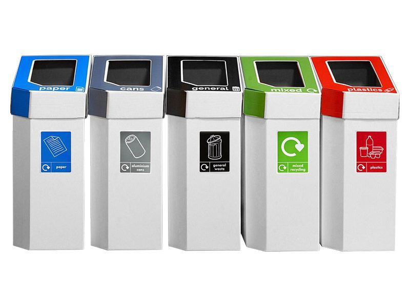 Set of 5 Recycling Bins