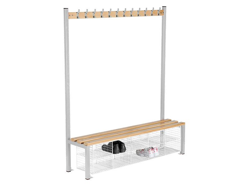 Single Sided Cloakroom Bench