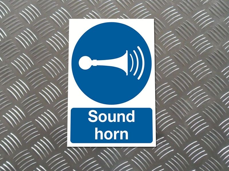 """Sound Horn"" Mandatory Site Safety Sign"