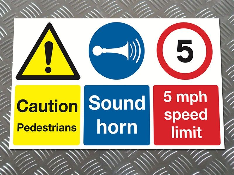 """""""Sound Horn"""" Construction Site Safety Board"""