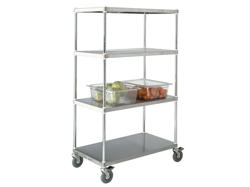 Stainless Steel Kitchen Solid Shelving