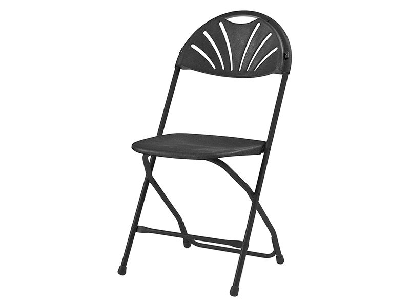 Standard 8 Pack Black 2000 Series By-Fold Chairs