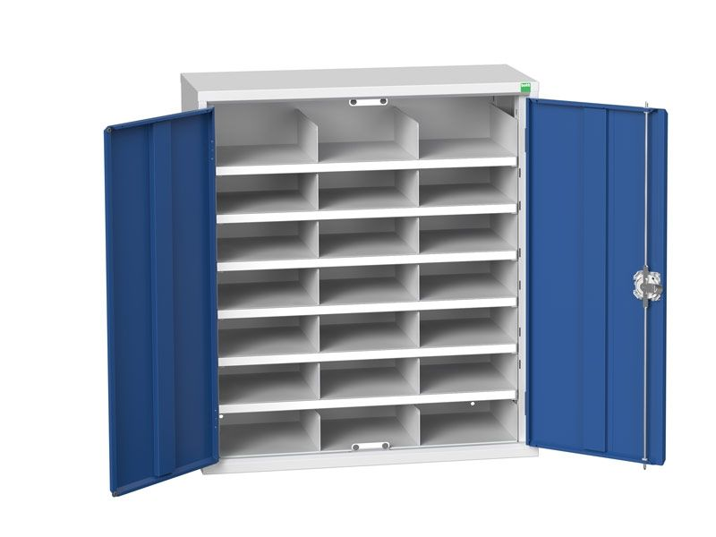 Steel Cupboard with 21 Compartments