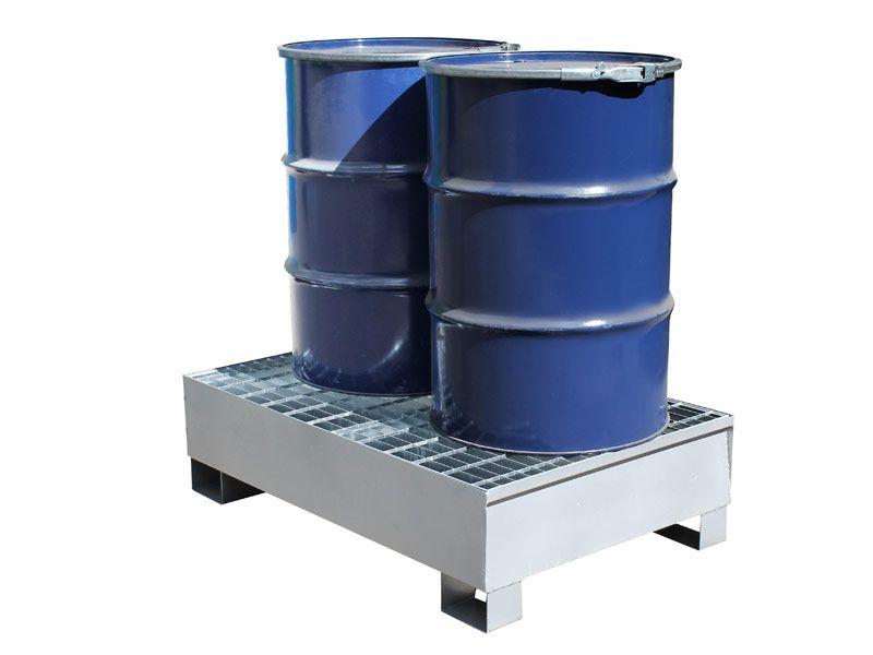 2 Drum Steel Spill Pallets