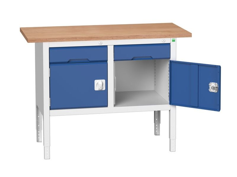 Workbenches with Drawers and Cabinets