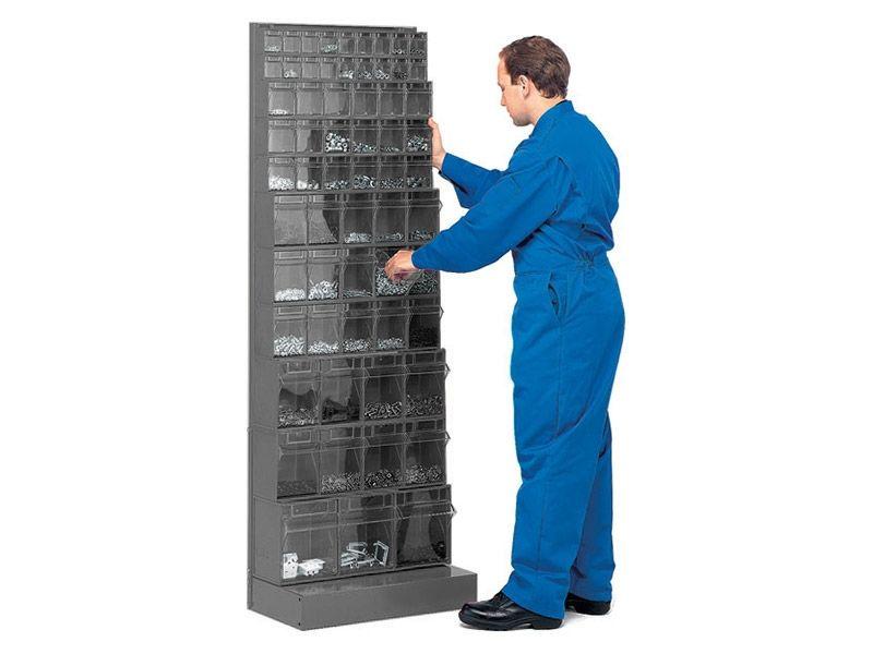 Tilt Box Kitted Storage Rack