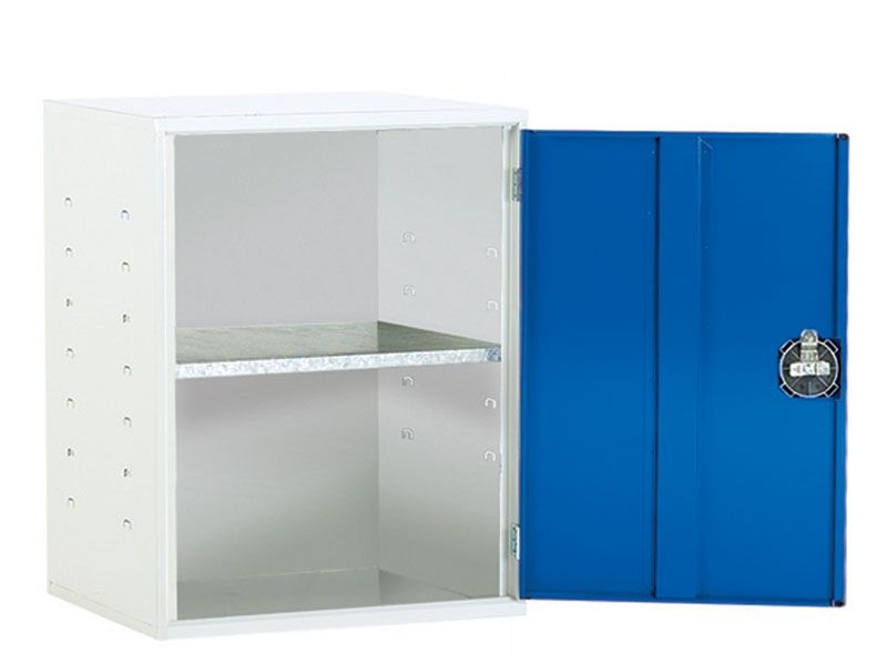 Wall Mounted Workshop Tool Cabinet with 1 Shelf